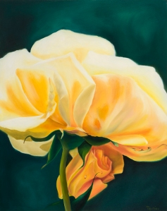 tenderness of mother and child, yellow rose gift of the rose collection