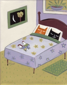 Cats in bed by Sara Pulevr