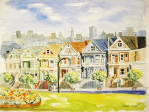 Painted Ladies resized, Diane Dean