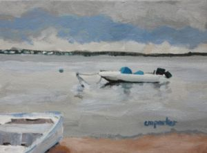 Parker,Christine,Boats in Barnegat Bay, acrylic